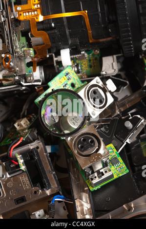 Component parts of a broken high resolution 3 chip digital ...