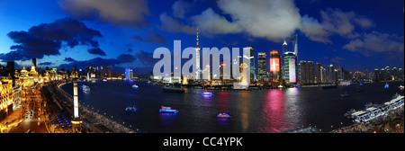 Cityscape of Shanghai, China - Stock Photo