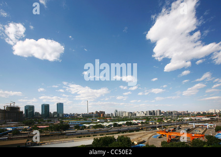 Central Business District, Beijing, China - Stock Photo