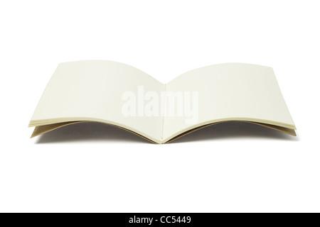 Open Blank Thread Sew Book on White Background - Stock Photo