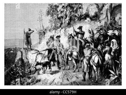 1886 Spanish smugglers - Stock Photo