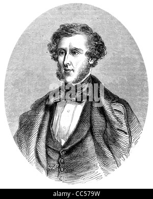Anthony Ashley Cooper 7th Earl of Shaftesbury 1801 1885 English politician philanthropist Victorian era period portrait - Stock Photo