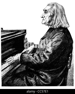 Franz Liszt Ferencz Ferenc 1811 1886 Hungarian composer pianist conductor teacher piano musician music - Stock Photo