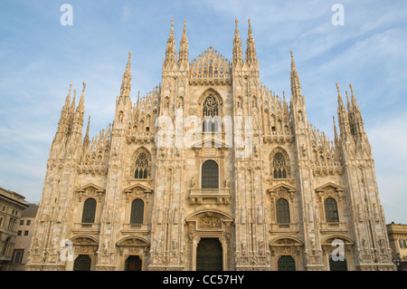 Duomo di Milan the Milan Cathedral at Piazza del Duomo square central Milan Lombardy region Italy Europe - Stock Photo