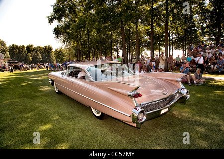 Classic 1950 S Pink Cadillac Car Parked By Colony Hotel
