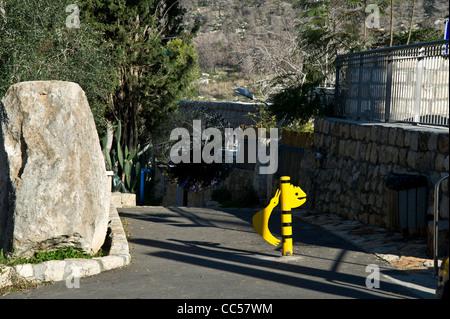 A walk through Ein Hod ,Israel - Stock Photo