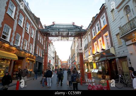 gerrard street chinatown London England UK United kingdom - Stock Photo
