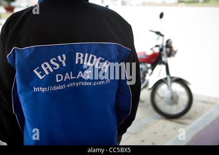 Easy Rider Motor Cycle Travel Guide Dalat - Stock Photo