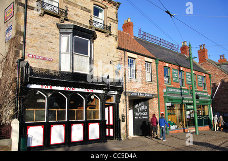 Edwardian Town, Beamish, The North of England Open Air Museum, near Stanley, County Durham, England, United Kingdom - Stock Photo
