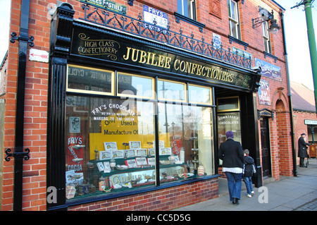 Jubilee Confectioners in Edwardian Town, Beamish, The North of England Open Air Museum, County Durham, England, - Stock Photo