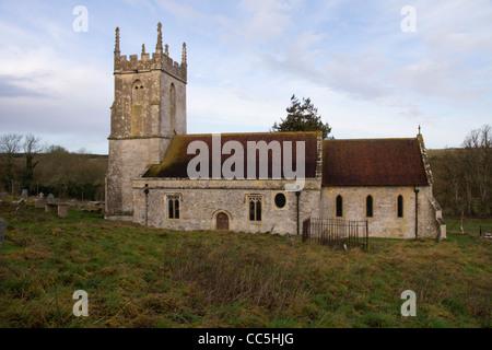 Deserted Imber village on Salisbury Plain Wiltshire England - Stock Photo