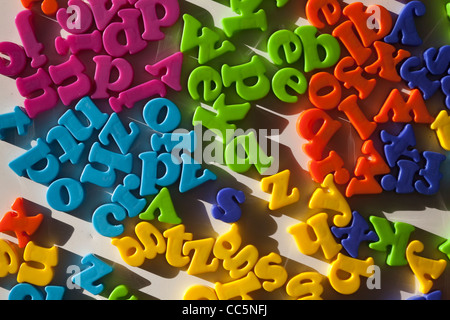 Colourful letters -fridge magnets - Stock Photo
