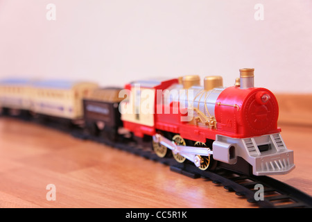 Red toy train - Stock Photo