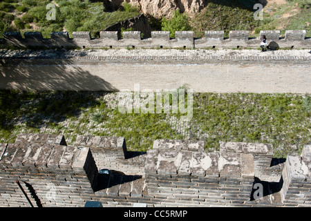 aerial view of Zhenbei Fortress, Yulin, Shaanxi , China - Stock Photo