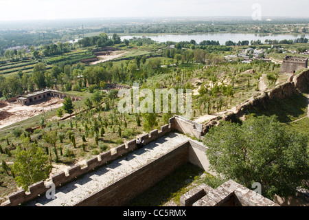 View from Zhenbei Fortress, Yulin, Shaanxi , China - Stock Photo