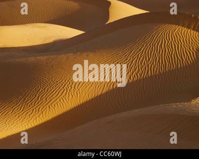 Taklamakan Desert, Xinjiang Uyghur Autonomous Region, China - Stock Photo