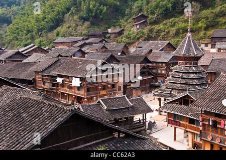 Dong village - Zhaoxing, Guizhou province (China) - Stock Photo