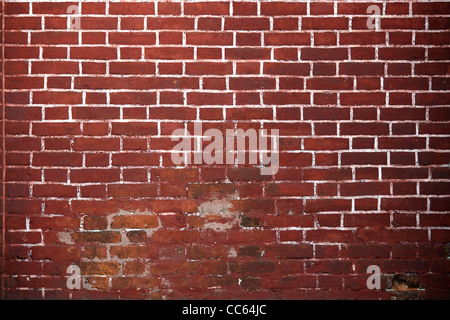 Old red brick wall background. - Stock Photo