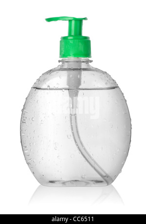 Spray bottle of water isolated on a white background. Clipping path - Stock Photo