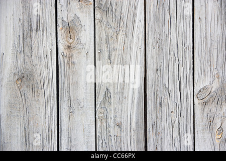 Weathered gray barn siding on a Vermont Barn - Stock Photo