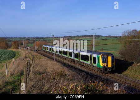 A London Midland Train On The West Coast Mainline In The
