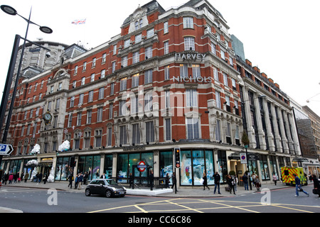 harvey nichols department store in Knightsbridge London England UK United kingdom - Stock Photo