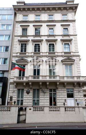 embassy of kuwait kuwaiti embassy in Knightsbridge London England UK United kingdom - Stock Photo