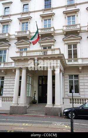 kuwait embassy in Knightsbridge London England UK United kingdom - Stock Photo