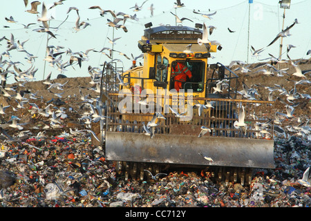 A landfill site in Huntingdon, Cambridgeshire - Stock Photo