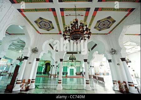 Indonesia, Sumatra, Banda Aceh, inside the Baiturrahman Grand Mosque (Mesjid Raya Baiturrahman) - Stock Photo