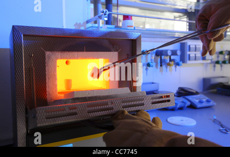 High temperature melting oven, for use in science laboratory's. To heat up samples from chemical experiments up - Stock Photo