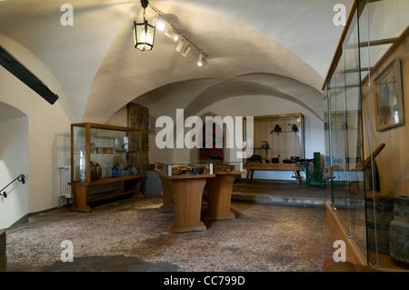 Castle museum, Ranis Castle, Ranis, Thuringia, Germany, Europe - Stock Photo