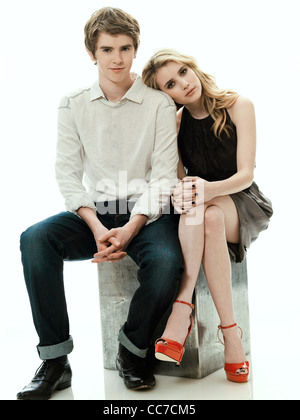 FREDDIE HIGHMORE & EMMA ROBERTS THE ART OF GETTING BY (2011) - Stock Photo