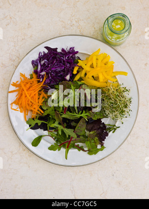 Variety of vegetables on plate - Stock Photo