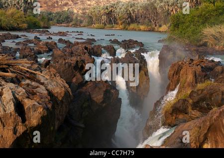 Epupa Falls on the Kunene River, northern Namibia - Stock Photo