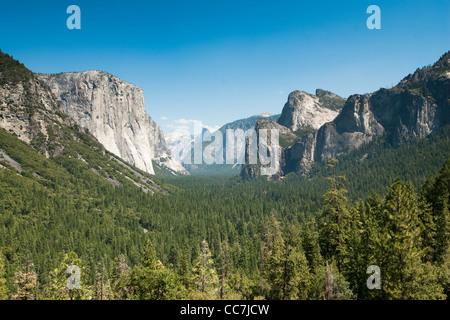 tunnel view in yosemite national park, california, usa - Stock Photo