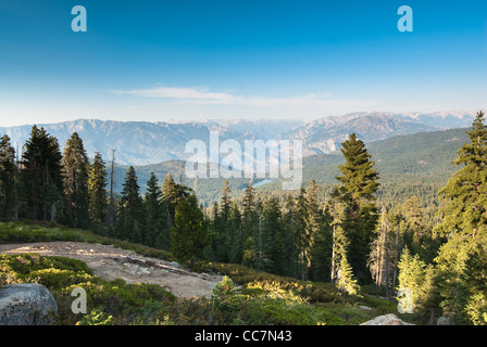 panorama in kings canyon national park, california, usa - Stock Photo
