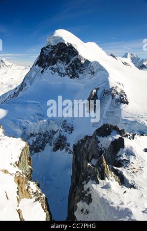 Breithorn mountain peak. View from kl. Matterhorn, Zermatt, Switzerland - Stock Photo