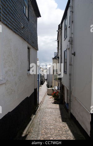 Alleyway St.Ives Cornwall, UK - Stock Photo