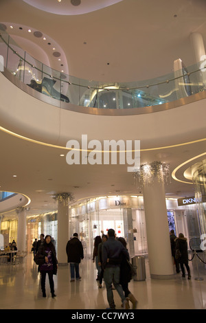 Luxury Shopping section 'The Village' at Westfield Mall in Shepherds Bush - London - Stock Photo