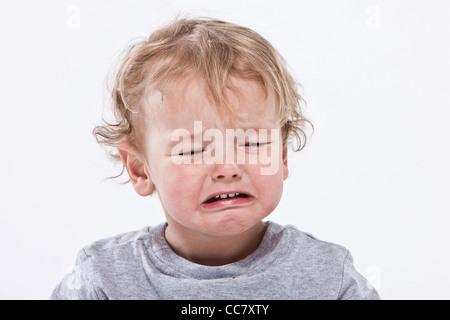 Portrait of Boy Crying - Stock Photo