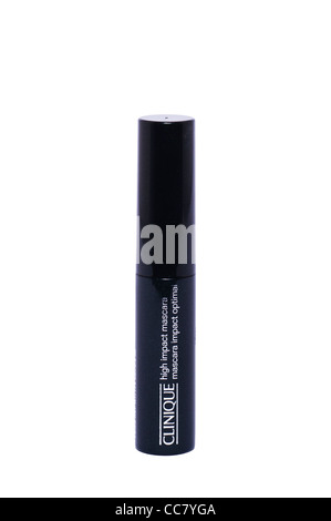 A Clinique high impact mascara on a white background - Stock Photo