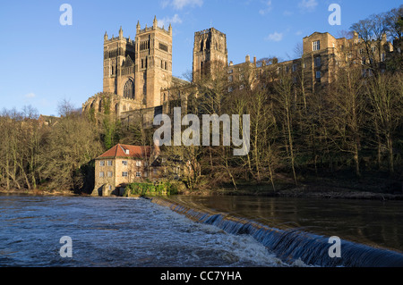 Durham Cathedral and the river Wear - Stock Photo