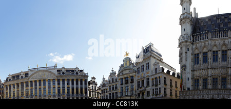 Historic grand place in Brussels Belgium - Stock Photo