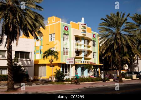 Art Deco Berkeley Shore Hotel, South Beach, Miami, Florida, USA - Stock Photo