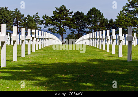 american world war two cemetery in colleville sur mer, normandy - Stock Photo