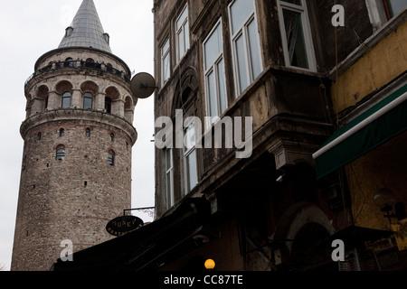 Galata Tower, Istanbul. - Stock Photo