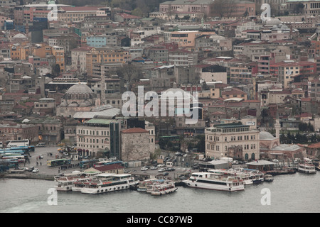 Views over Istanbul from Galata Tower. - Stock Photo