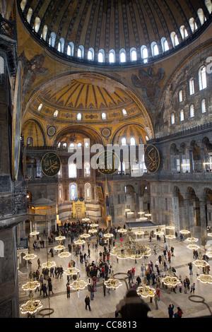 Aya Sofya Interior, Istanbul - Stock Photo