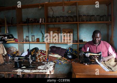 Tailor Ouagadougou Burkina Faso - Stock Photo